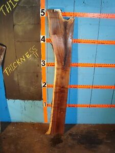 "# 8621, 2"" thick Black Walnut Live Edge Slab lumber craft wood"