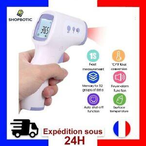 Thermometre numérique médical frontal sans contact a infrarouge bébé et adulte