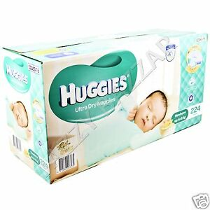 Huggies-Ultra-Dry-Nappies-Newborn-224-Disposable-Newborn-Baby-Boy-Girl-Nappy