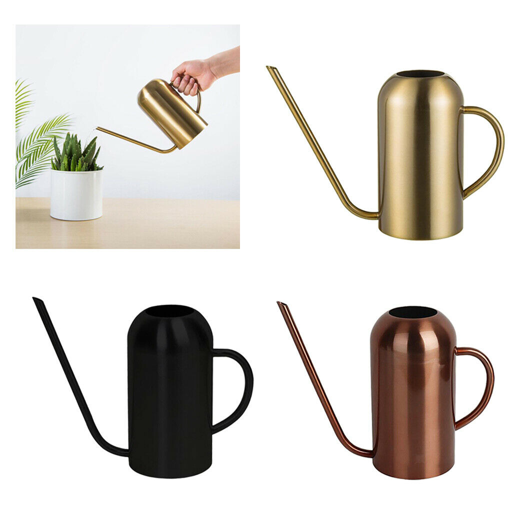 50oz/1.5L Watering Can Watering Pot Stainless Steel Long Spout Garden Indoor