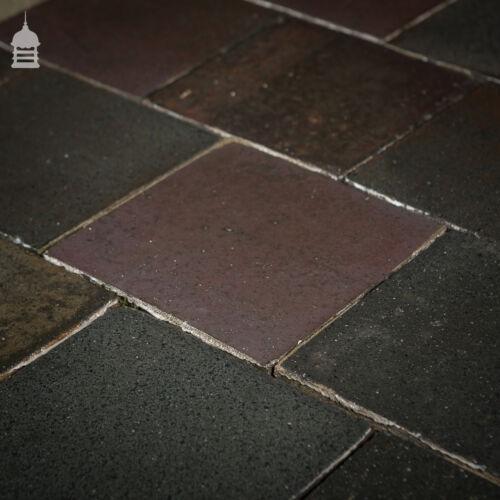 Reclaimed 9 Inch x 9 Inch Staffordshire Blue Black 9x9 Quarry Tiles