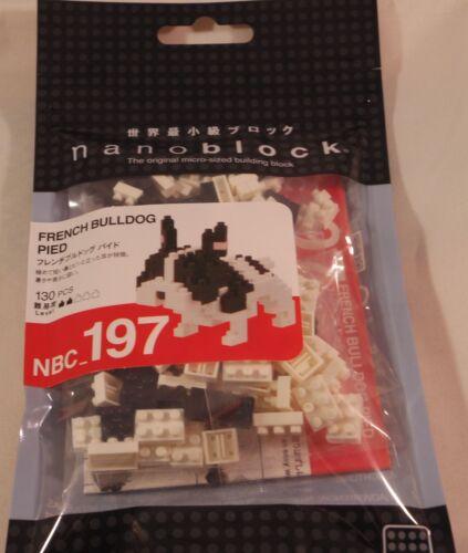 japan building toy block NBC/_197 Kawada Nanoblock Mini FRENCH BULLDOG PIED