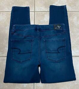 American-Eagle-Hi-Rise-Jegging-Super-Super-Stretch-Blue-Jeans-size-10