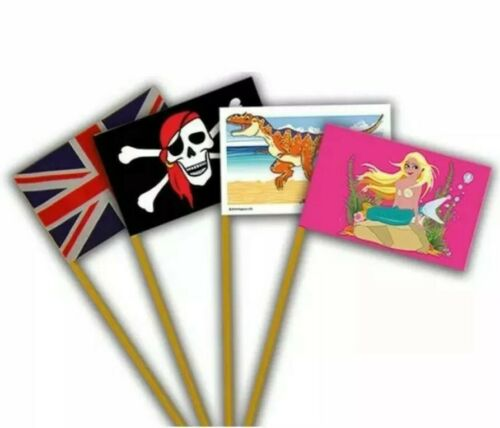Sand Flags Ideal for Sandpits or the Beach Sand Castles Brand New Pack Of 4