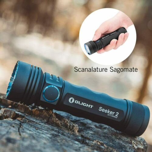 Olight Seeker 2 Black LED Tactical Flashlight Rechargeable Side Switch Hot Sale
