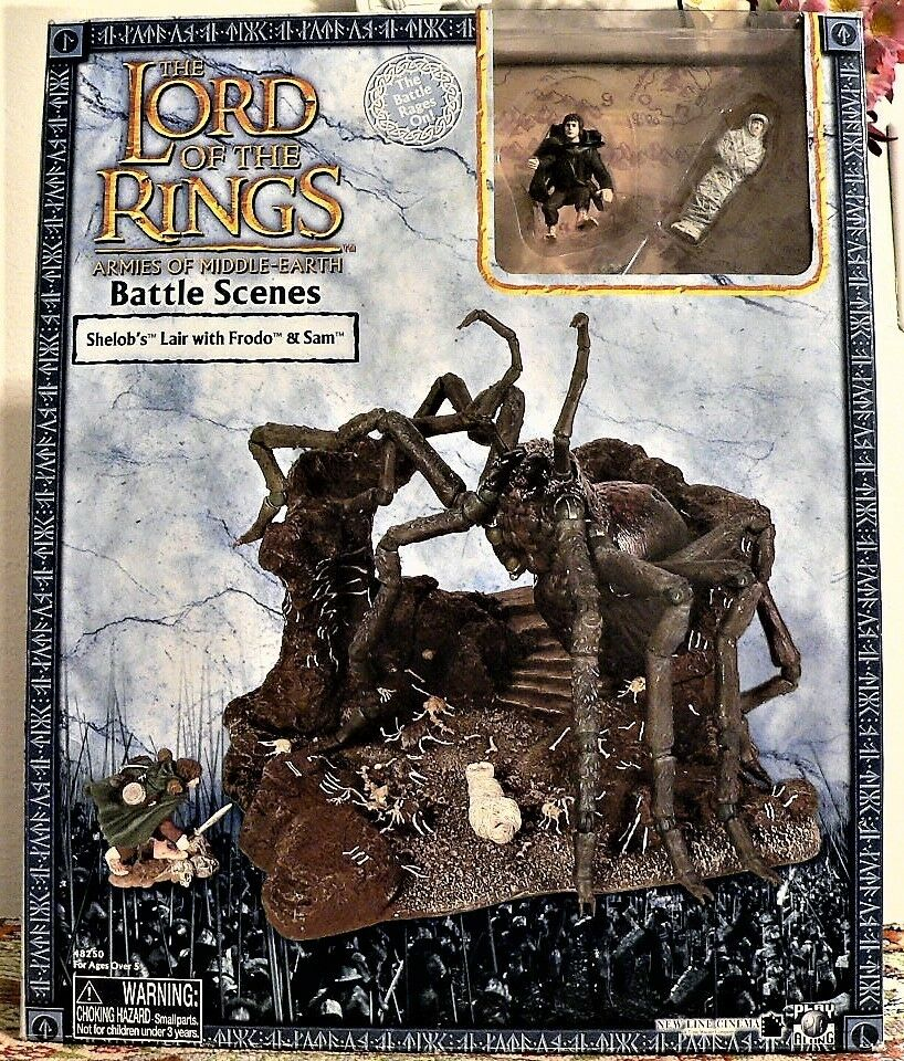 The Lord Of The Rings Armies Of Middle Earth Battle Scenes Shelob's Lair MIB