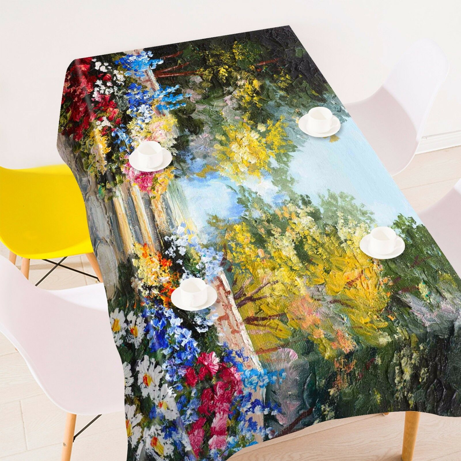 3D Painted 46 Tablecloth Table Cover Cloth Birthday Party AJ WALLPAPER UK Lemon