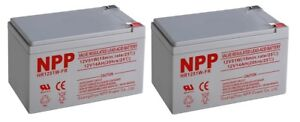 NPP  HR1251W 12V 14Ah Rechargeable lead Acid  Battery UB12140  F2 / (2pcs)