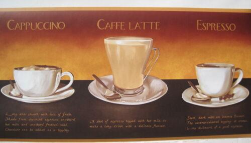 """COFFEE EXPRESSO CAPPUCCINO Wallpaper Border 9/"""""""