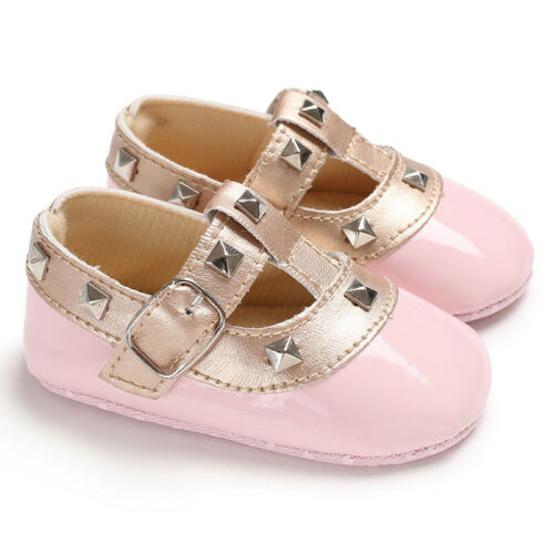 Newborn Baby Girl Spanish Style Pre-Walker Pram Shoes Trainers Christening Party