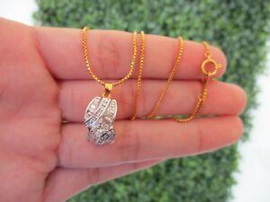1.45 Carat Diamond Twotone Gold Necklace 18k codeNx02 sep