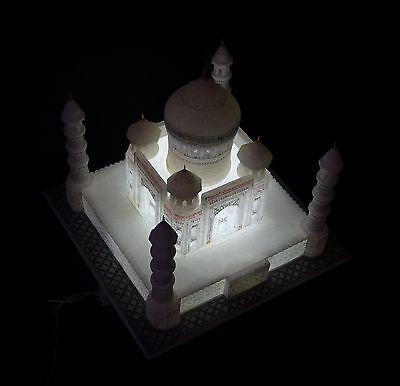 "12""x12"" White Marble Taj Mahal Collectible Replica Handicraft Home Decor Gifts"