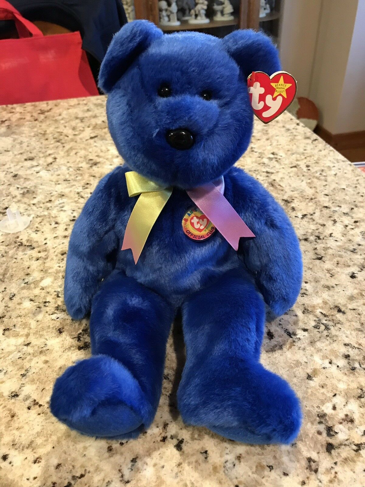 Clubby the Bear Large 1999 bluee Beanie Baby Baby Baby Bear 6234ce