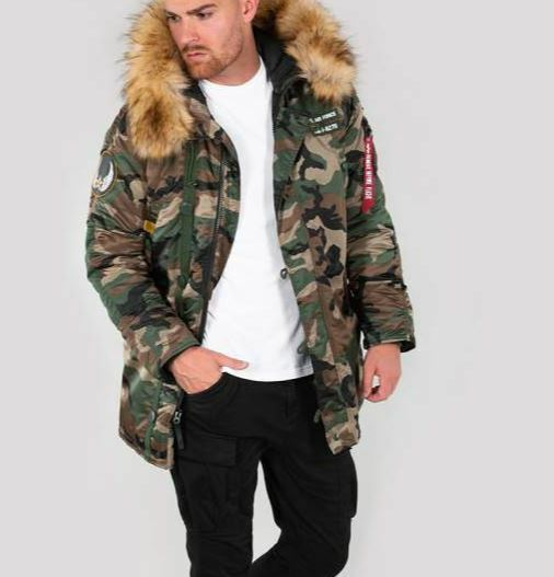 Alpha Industries Wintere N3B Nell'Aria 188141 Wdl.camo 65 Nuovo Wintere Industries 2018 Explorer 57d1e6