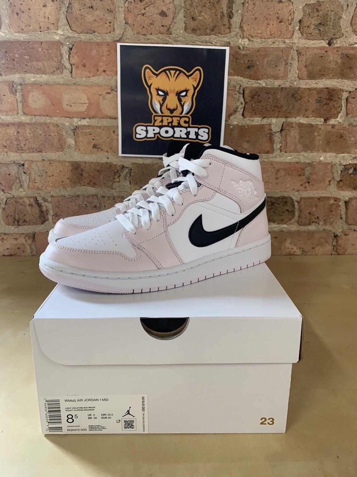Size 9.5 - Jordan 1 Mid Barely Rose for sale online | eBay