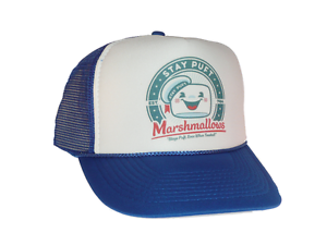 457b5a12e76 Image is loading Stay-Puft-Marshmallows-hat-Trucker-Hat-Mesh-Hat-