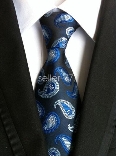 Mens Classic Silk Tie Wedding NeckGift tie Striped JACQUARD WOVEN Neck Ties