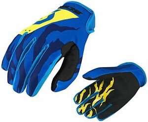 GUANTI-GLOVES-MOTO-ENDURO-CROSS-MX-SCOTT-350-RACE-BLU-YELLOW-GIALLO-TG-L