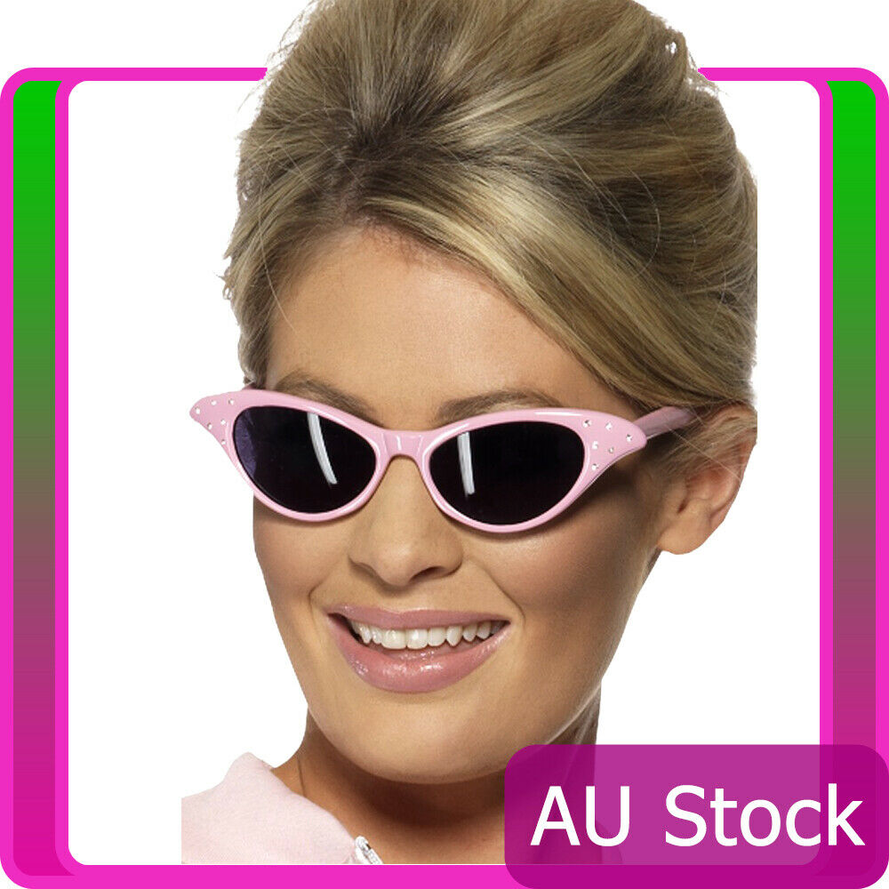 Adult Pink Ladies Grease Sunglasses Lady Glasses 50s 1950s Costume Accessories