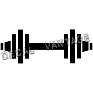 Barbell-Vinyl-Sticker-Decal-Weights-Lifting-Choose-Size-amp-Color