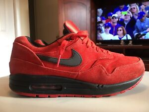 best sneakers fe15e fc0c6 Image is loading NIKE-AIR-MAX-1-PREMIUM-PIMENTO-RED-BLACK-