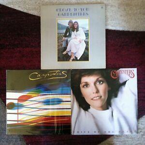 Carpenters 3 vinyl LP lot 1970-1983- Close To You - Passage - Voice Of The Heart
