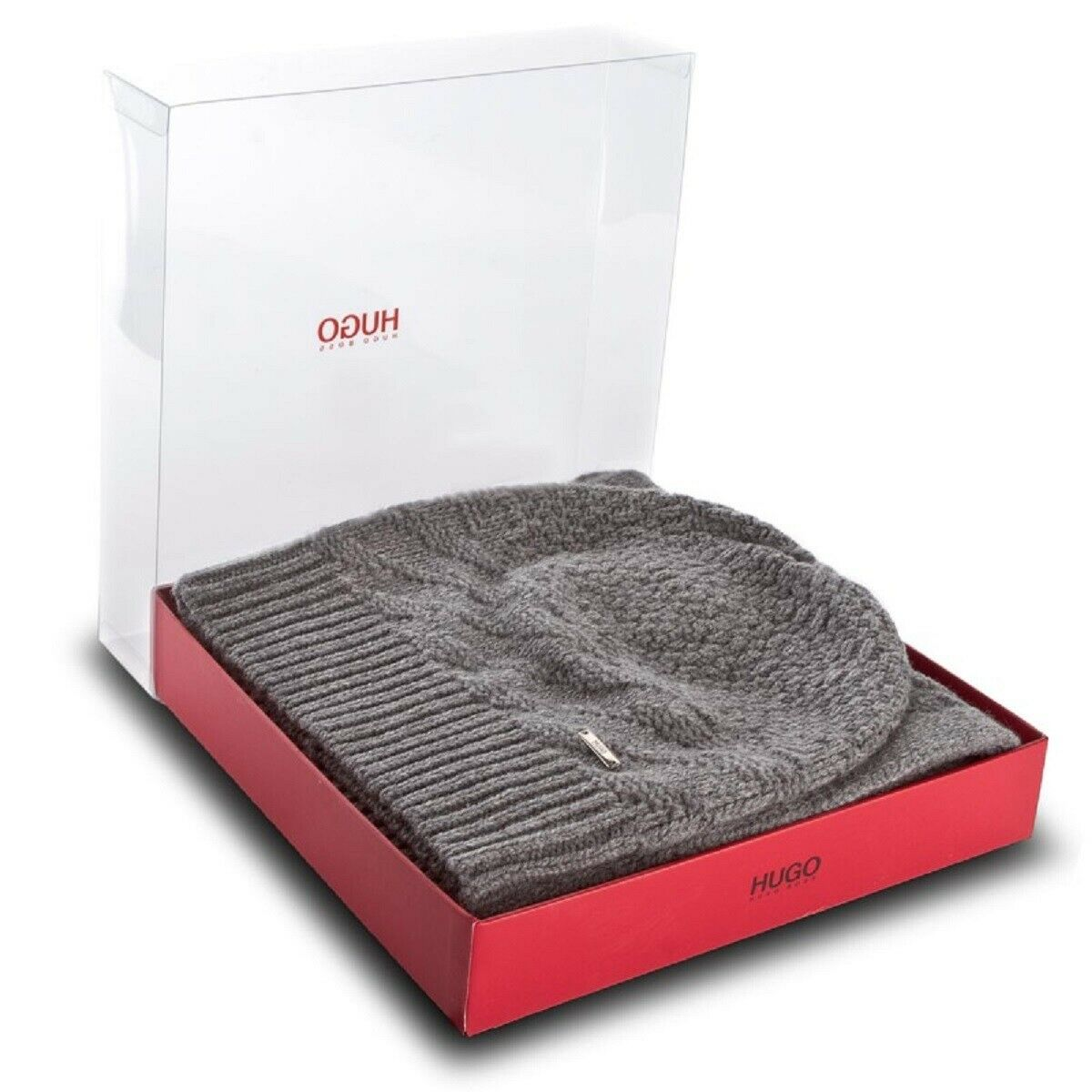Hugo scarf and Pumpkin Jacquard Virgin Wool Model ZANTA Set