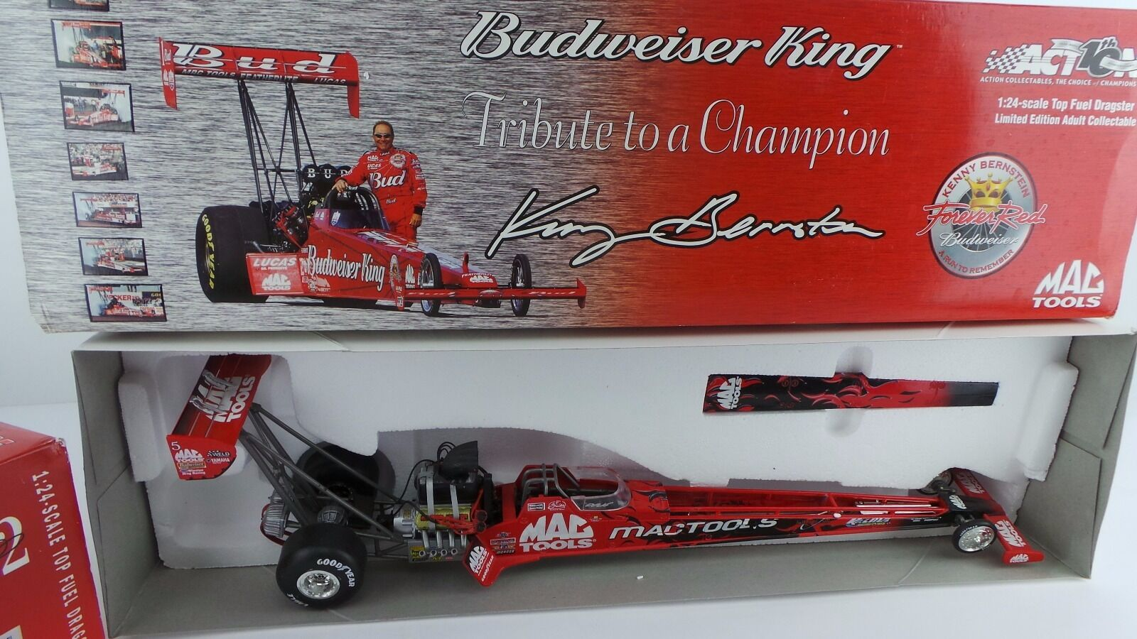 Kenny Bernstein diecast Mac tools action tribute to a champion budweiser 1 24