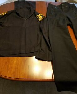 Details about Vintage Navy Sea Cadet Corps Uniform -2 Pcs-Shirt and Bell  Bottom Pants
