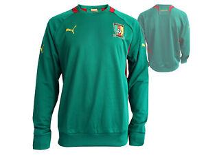Puma-Kamerun-Africa-Fussball-Sweatshirt-gruen-Cameroon-Fussball-Fan-Shirt-S-XXL
