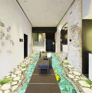 Definite Complex Petal 3D Floor Mural Photo Flooring Wallpaper Home Print Decor