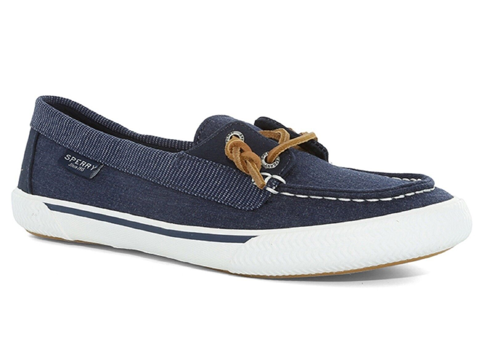 SPERRY 'Quest Rhythm' Ladies Canvas Boat shoes Navy    Sz. 9.5  M    NIB
