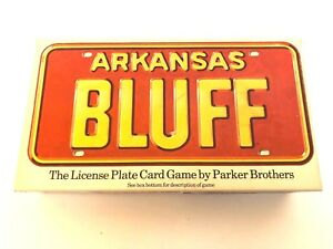 License-Plate-Board-Game-Arkansas-Bluff-Card-Parker-Brothers-1975-Complete