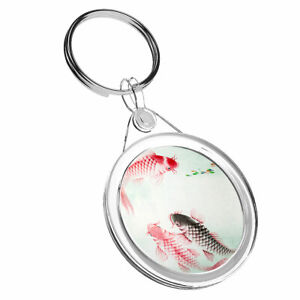 1 X Koi Carp Pond Fish Japanese - Keyring Ir02 Mum Dad Kids Birthday Gift #8736