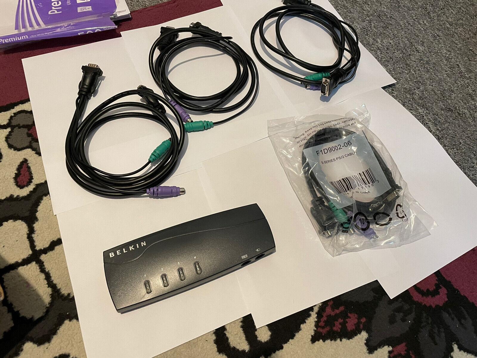Belkin OmniView E Series 4-Port KVM Switch F1DB104P