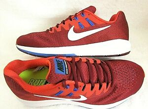 cheaper ed46a 4e92a Nike Mens Air Zoom Structure 20 Running Shoes Team Red Max ...