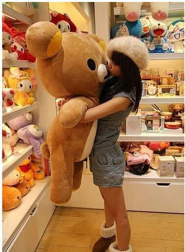 80cm San-x Rilakkuma Relax Bear Soft Big Plush Doll Toy Stuffed Pillow Xmas Gift