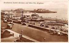 BR94688 bandstand sunken gardens and west pier brighton real photo  uk