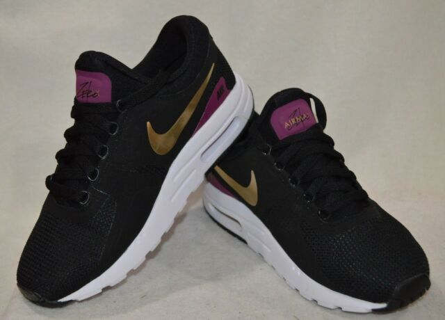 1d3b080b652bb Nike Air Max Zero Essential GS Black Metallic Gold Kids Women Shoes ...