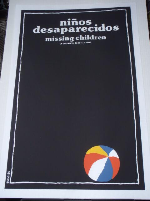 Cuban Silkscreen Movie Poster MISSING CHILDREN / Cuba Argentina / ART by BACHS