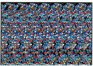 Details about 2 Image Poster 3D Stereogram Illusion Football Golfer Magic  Eye 10x7 FREE POSTER