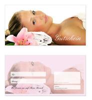 100 X Geschenkgutscheine (wellness-609) Top Gutscheine Für Wellness Massagen Uvm