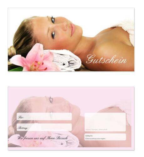 TOP Gutscheine für Wellness Massagen uvm 100 x Geschenkgutscheine Wellness-609