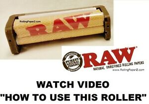 RAW-HEMP-PLASTIC-79mm-Cigarette-Rolling-Machine-New-also-with-Spare-Mat-Included