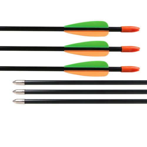 12Pcs 28/'/' Archery Fiberglass Arrow Plastic Vanes Youth Kids Shooting Practice