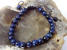 Natural Gemstone Men's Shamballa bracelet all 8mm BLUE Tiger Eye beads