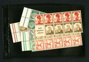 Germany-5x-Early-Stamp-Booklet-Panes