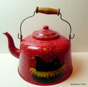Red-Graniteware-kettle-antique