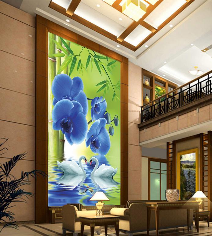 3D Blaumen Schwanensee 8 Tapete Wandgemälde Tapete Tapeten Tapeten Tapeten Bild Familie DE Summer | Offizielle Webseite  | Günstig  | Bestellungen Sind Willkommen  a3128a