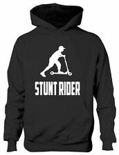 Stunt Rider Scooter Boys Girls Kids Hoodie Gift Age 5-13